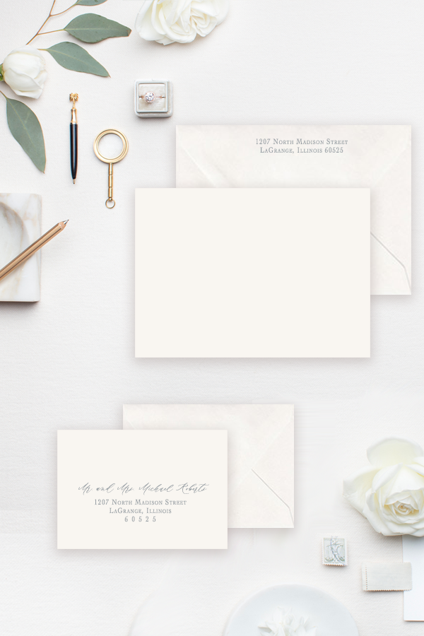 Return Address and RSVP Envelope Addressing
